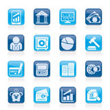 Business, finance and bank icons Stock Photo