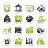 Business, finance and bank icons Royalty Free Stock Images