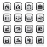 Business, finance and bank icons. Vector icon set Stock Photo