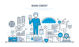 Business, finance, banking, payments, protection of deposits, income, savings, investments. Secure transactions, payments, business, finance, bank credit Royalty Free Stock Images