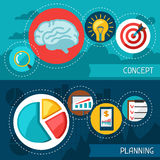 Business finance banners of concept and planning.  Royalty Free Stock Photo