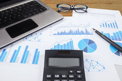 Business finance calculation Stock Image