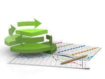 Business finance chart, diagram, bar, graphic Royalty Free Stock Photo