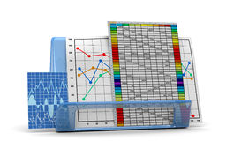 Business finance chart, diagram, bar, graphic Stock Image