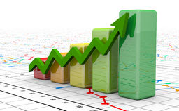 Business finance chart, diagram, bar, graphic Stock Images