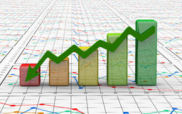 Business finance chart, diagram, bar, graphic. Blue business finance chart, diagram, bar, graphic Stock Photography