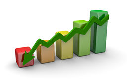 Business finance chart, diagram, bar, graphic. Blue business finance chart, diagram, bar, graphic Stock Photos