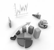 Business finance chart, diagram, bar, graphic. Business finance chart, diagram, graphic Royalty Free Stock Image