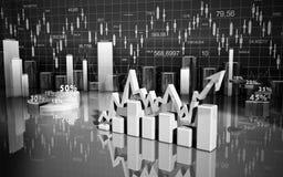 Business finance chart, diagram, bar, graphic. Business finance chart, diagram, graphic Royalty Free Stock Photos
