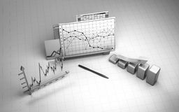 Business finance chart, diagram, bar, graphic Stock Photos