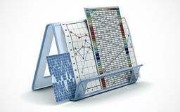 Business finance chart, diagram, bar, graphic Royalty Free Stock Images