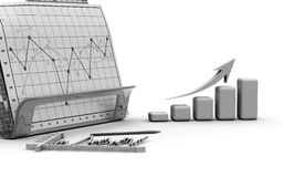 Business finance chart, diagram, bar, graphic Stock Photo