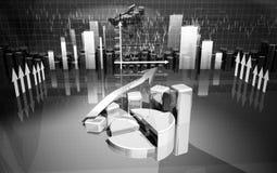 Business finance chart, diagram, bar, graphic. Business finance chart, diagram, graphic Stock Images