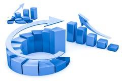 Business finance chart, diagram, graphic. Business finance chart, diagram, bar, graphic Royalty Free Stock Photos