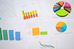Business finance charts Royalty Free Stock Photo