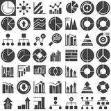 Business finance charts vector icons set. Modern solid symbol collection, filled pictogram pack. Signs, logo illustration. Set includes icons as pie chart Stock Photos