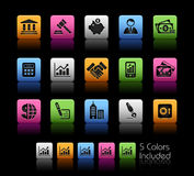 Business & Finance // Colorbox series Royalty Free Stock Images