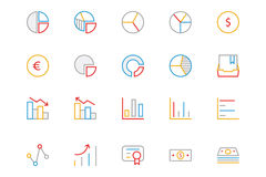 Business and Finance Colored Outline Icons 11 Stock Image
