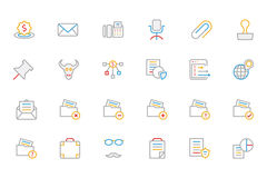 Business and Finance Colored Outline Icons 8 Royalty Free Stock Photography