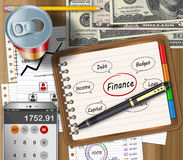 Business finance concept. Business finance and accounting work office desk Royalty Free Stock Image