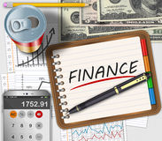 Business finance concept. Business finance and accounting work office desk Royalty Free Stock Photography