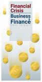 Business and Finance concept background with financial crisis Royalty Free Stock Photography
