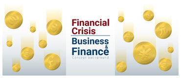 Business and Finance concept background with financial crisis. Vector , illustration Royalty Free Stock Image
