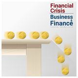 Business and Finance concept background with financial crisis. Vector , illustration Royalty Free Stock Photo