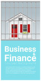 Business and Finance concept background with house in jail. Vector , illustration Royalty Free Stock Photography