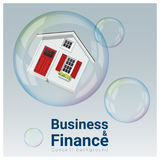 Business and Finance concept background with housing bubble. Vector , illustration Stock Image