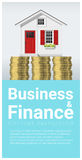 Business and Finance concept background with a little house. Vector , illustration Royalty Free Stock Photography