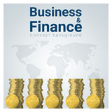 Business and Finance concept background with major currencies. Vector , illustration Stock Photos