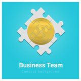 Business and Finance concept background with money jigsaw puzzle. Vector , illustration Royalty Free Stock Image