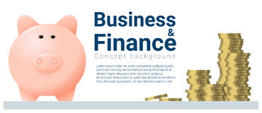 Business and Finance concept background with piggy bank Royalty Free Stock Photo