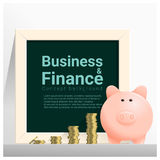 Business and Finance concept background with piggy bank Stock Photos
