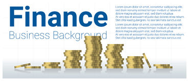Business and finance concept background with stacks of coins Stock Photos