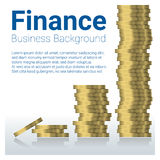 Business and finance concept background with stacks of coins Stock Images