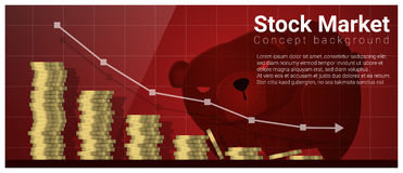 Business and Finance concept background with stock market. Vector , illustration Stock Image