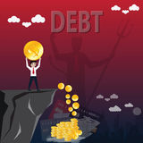 Business finance concept,Employment works for pay debt - vector. Illustration royalty free illustration