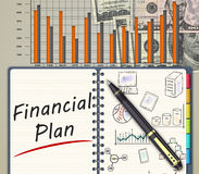 Business finance concept. The financial business action plan on an office desk Royalty Free Stock Photography