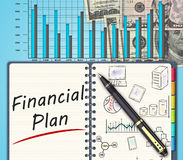 Business finance concept. The financial business plan  on an office desk Stock Image