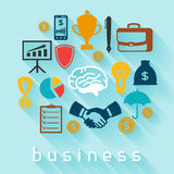 Business and finance concept from flat icons in. Shape Stock Images