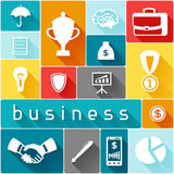 Business and finance concept from flat icons in. Shape Royalty Free Stock Photography