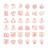 Business and finance concept icons. Business Icon set. Gradient line icons Style Royalty Free Stock Photo