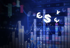 Business finance concept of online trading forex Stock Images