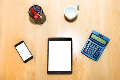 Business and finance desk Royalty Free Stock Photography