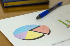 Business Finance Documents. Financial business documents and pen on the desk Stock Photos