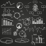 Business finance doodle hand drawn elements with Royalty Free Stock Images