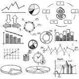 Business finance doodle hand drawn elements with Stock Photos