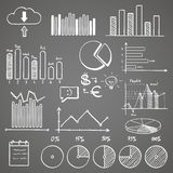 Business finance doodle hand drawn elements with Stock Images